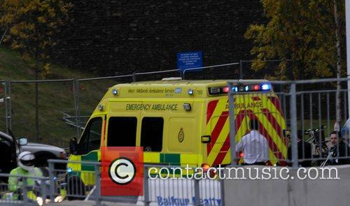 Arriving at Birmingham's Queen Elizabeth Hospital by Ambulance...