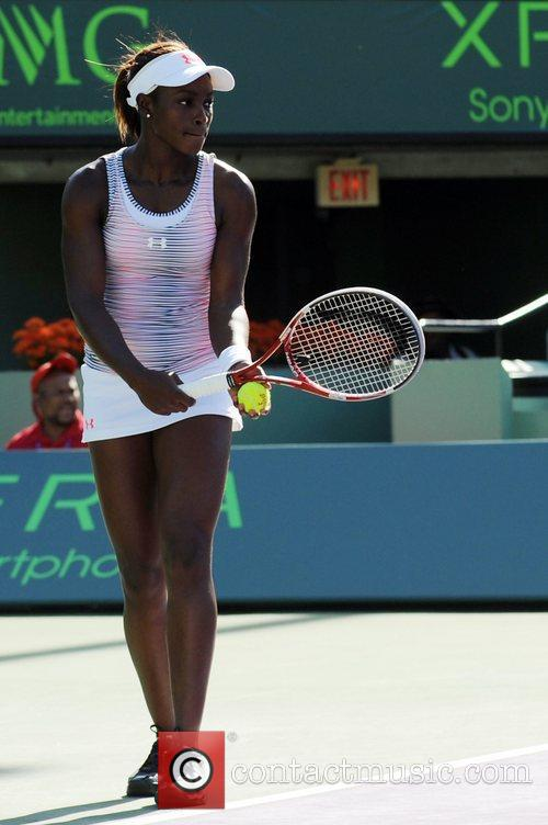 Sloane Stephens Sony Ericsson Open at the Crandon...