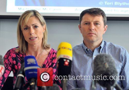 Kate McCann and Gerry McCann attend a press...
