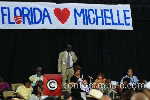 First lady Michelle Obama delivers a speech during...
