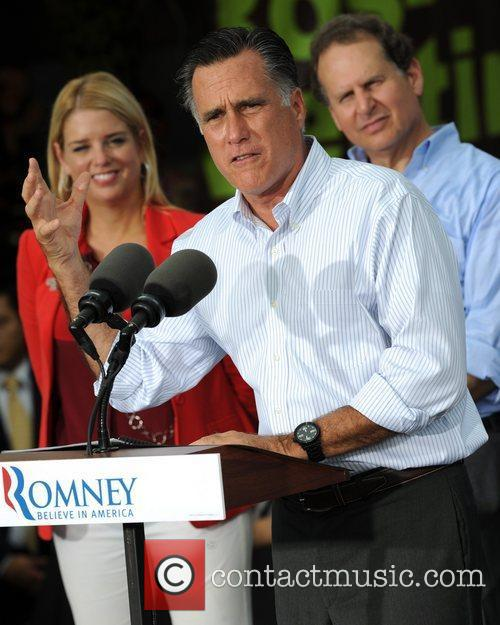 Republican Presidential candidate Mitt Romney campaigns at El...