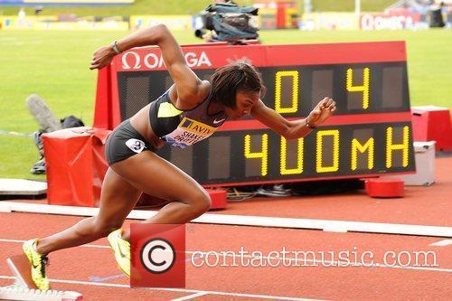 Perri Shakes-Drayton in action during the Women's 400m...