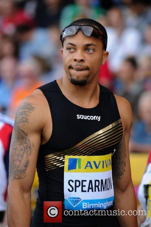Wallace Spearmon in action during the Mens 200m....