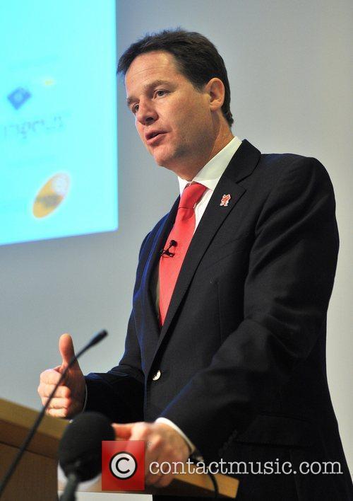 deputy prime minister nick clegg speaks at 3965859