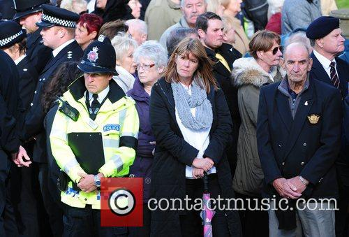 The funeral of PC Nicola Hughes at Manchester...