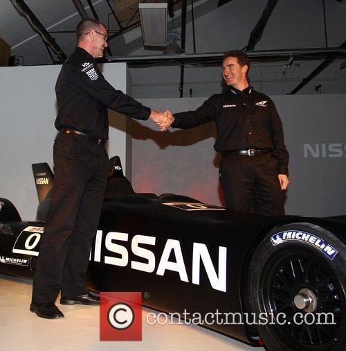 Jerry Hardcastle and Ben Bowlby Nissan DeltaWing racer...