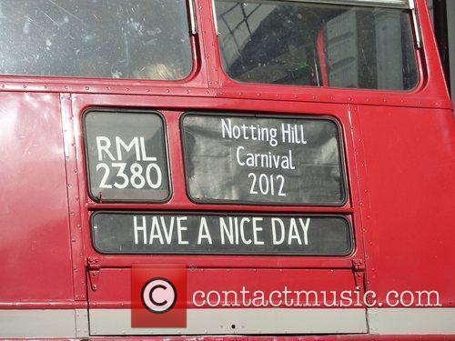 Bus destination The 2012 Notting Hill Carnival London,...