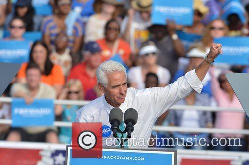Former Florida Governor Charlie, Florida, Crist, S, U, S. President Barack Obama, Obama, High School, Hollywood, November, Americans, Republican, Mitt Romney, Sunday and White House 4