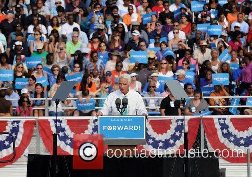 Former Florida Governor Charlie, Florida, Crist, S, U, S. President Barack Obama, Obama, High School, Hollywood, November, Americans, Republican, Mitt Romney, Sunday and White House 3