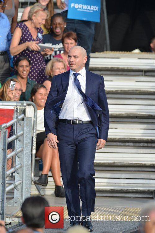Rapper Pitbull, U, S, S. President Barack Obama, Obama, High School, Hollywood, Florida, November, Americans, Republican, Mitt Romney, Sunday and White House 2