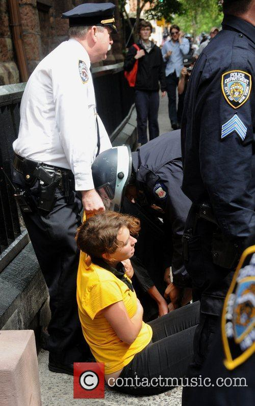 Policemen arrest protestors during the Occupy Wall Street...