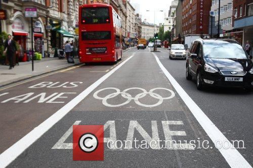 An Olympic Lane on Southampton Row in London...
