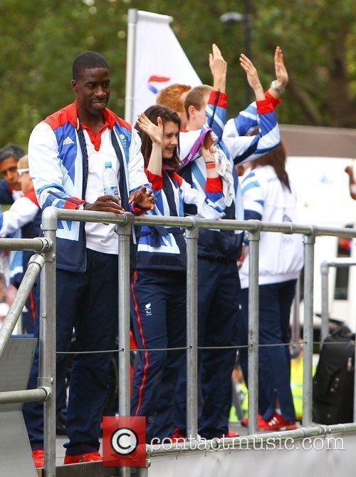 Dwain Chambers The 2012 Olympic Celebration Parade London,...