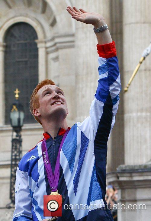 Greg Rutherford The 2012 Olympic Celebration Parade London,...