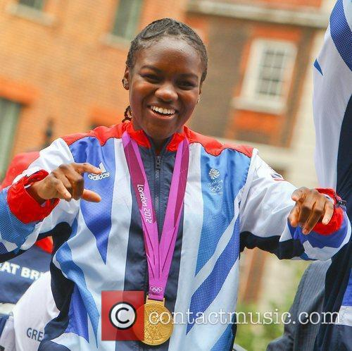Nicola Adams The 2012 Olympic Celebration Parade London,...