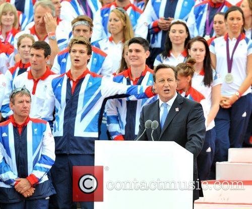 David Cameron Team GB and Paralympics GB Parade...