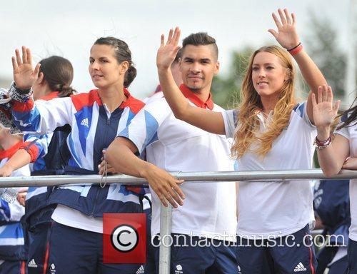 Louis Smith Team GB and Paralympics GB Parade...