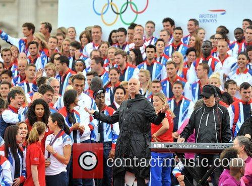 Neil Tennant Team GB and Paralympics GB Parade...