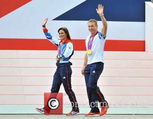 Sarah Storey and Sir Chris Hoy Team GB...