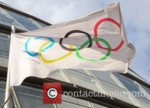 Olympic ring flag The Olympic rings have been...