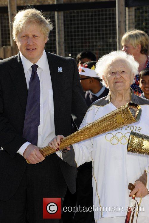 Mayor Boris Johnson and 99 year old Dinah...