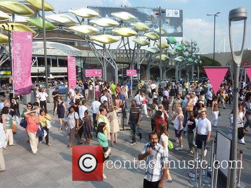 Atmosphere in Stratford ahead of the 2012 London...