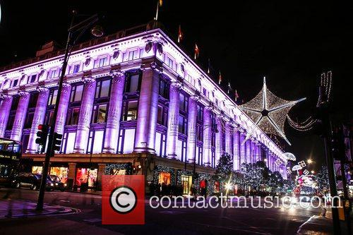 General View of the Oxford Street Christmas Lights.