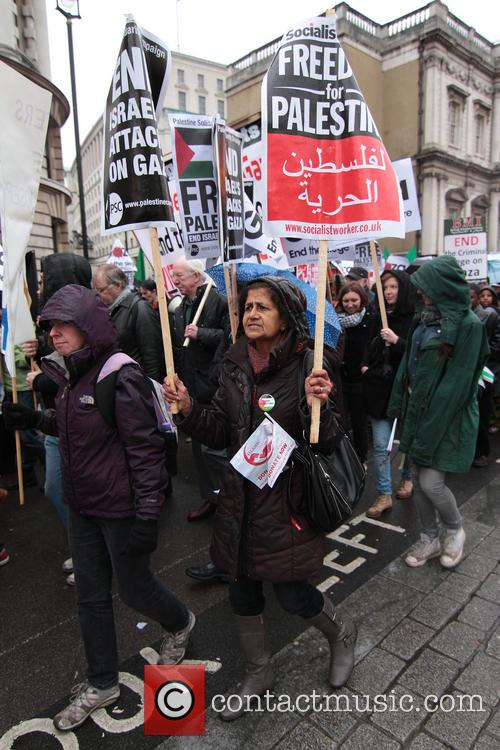 Featuring: Palestinian protest