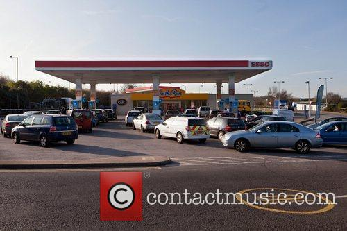 Drivers faced large queues at petrol stations across...