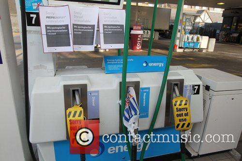 An Esso petrol station near Hammersmith Bridge, Barnes,...