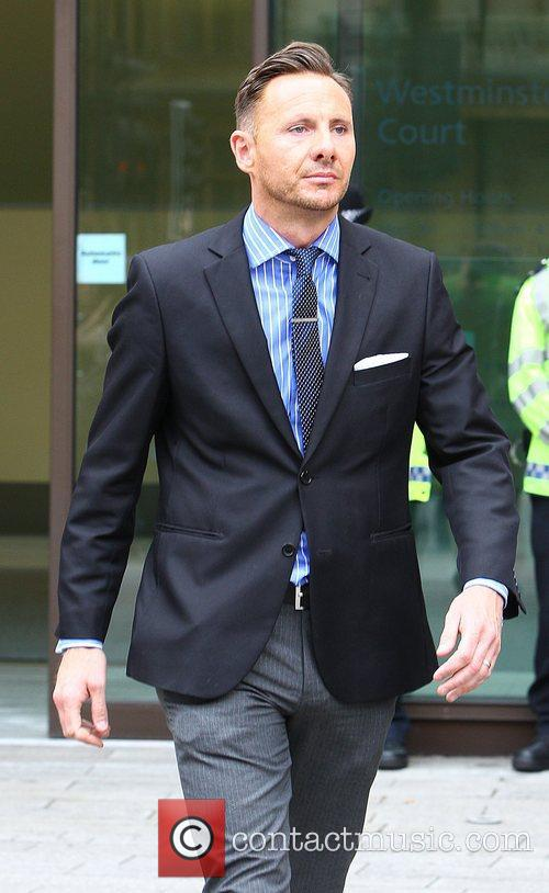Glenn Mulcaire leaving Westminster Magistrates court after giving...