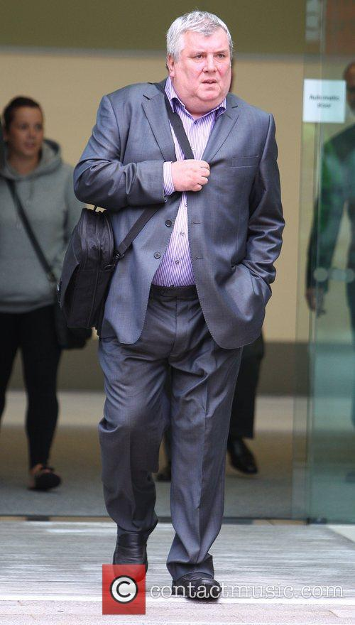 Greg Miskiw leaving Westminster Magistrates court after giving...