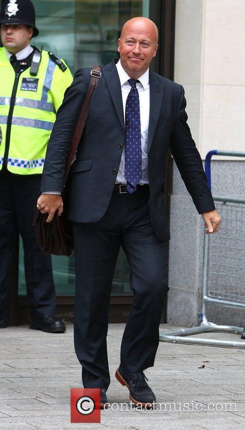 Leaving Westminster Magistrates court after giving evidence in...