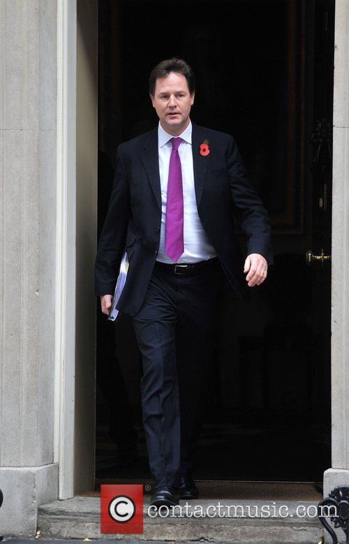 Deputy Prime Minister Nick Clegg leaves 10 Downing...