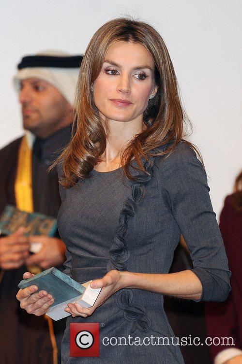 Spanish Princess Letizia attends Teachers Awards.