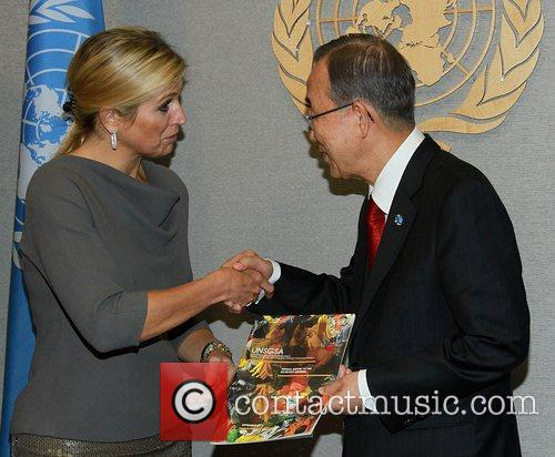 The United Nations Secretary-General Ban Ki-moon meets with...