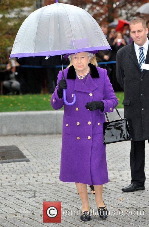 Queen Elizabeth II opens the newly developed Jubilee...