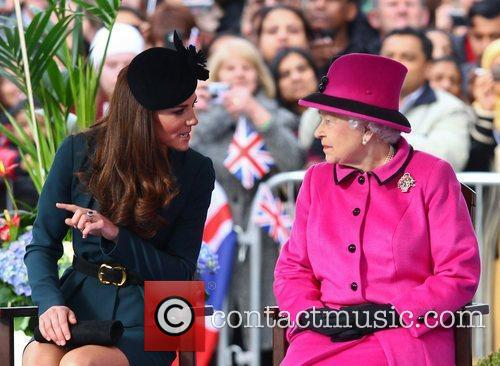 Queen Elizabeth Ii, Duchess and Kate Middleton 3