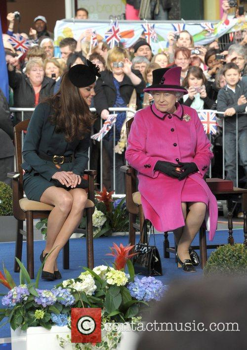 Queen Elizabeth II, Duchess and Kate Middleton 23