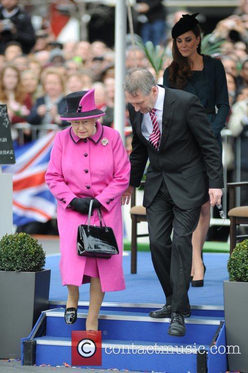 hrh queen elizabeth ii and catherine duchess 3769683