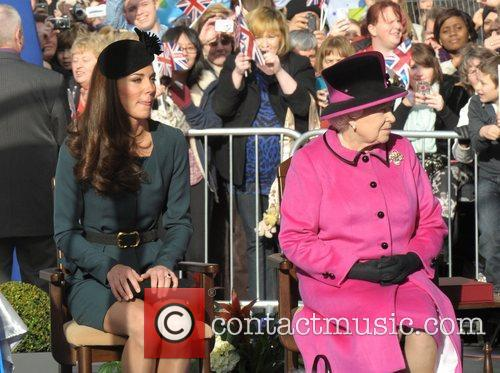 Queen Elizabeth II, Duchess and Kate Middleton 35