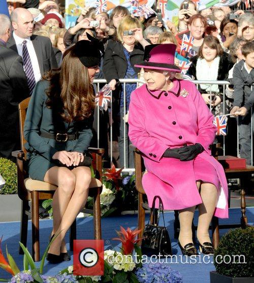 Queen Elizabeth II, Duchess and Kate Middleton 36