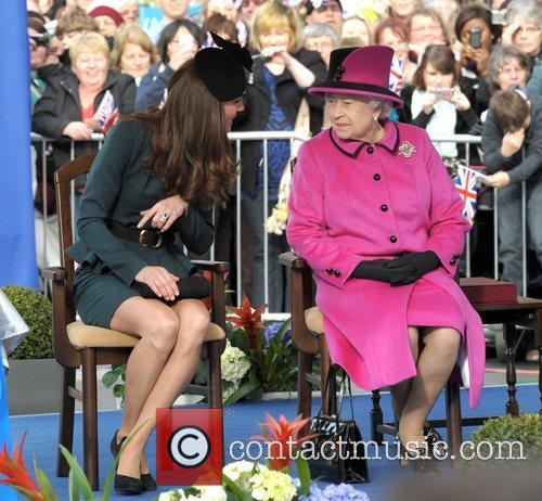 Queen Elizabeth II, Duchess and Kate Middleton 48