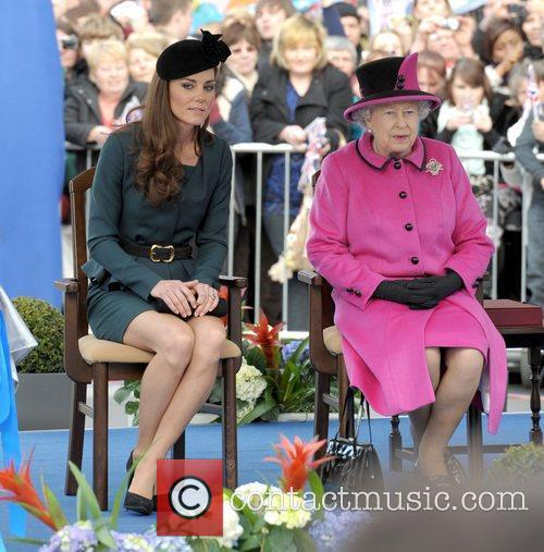 Queen Elizabeth II, Duchess and Kate Middleton 50
