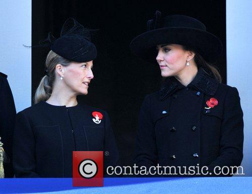 Sophie, Countess, Wessex, Catherine, Duchess, Cambridge and Kate Middleton 7