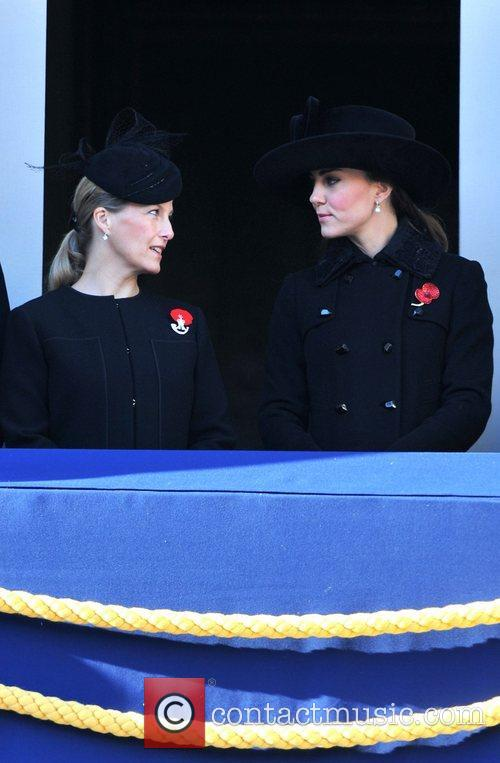 Sophie, Countess, Wessex, Catherine, Duchess, Cambridge and Kate Middleton 9