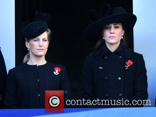 Sophie, Countess, Wessex, Catherine, Duchess, Cambridge and Kate Middleton 6
