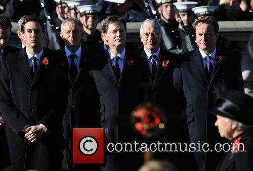 Ed Miliband, Tony Blair, Nick Clegg, John Major and David Cameron 8