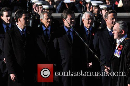 Ed Miliband, Tony Blair, Nick Clegg, John Major and David Cameron 2