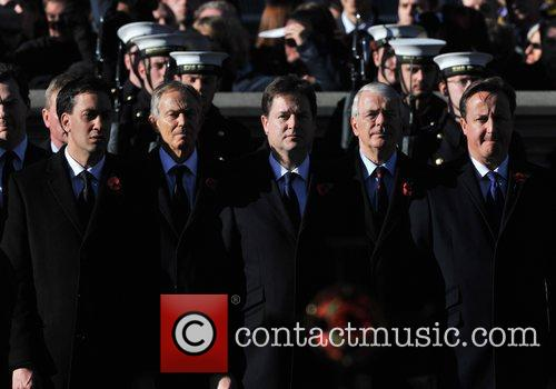 Ed Miliband, Tony Blair, Nick Clegg, John Major and David Cameron 4